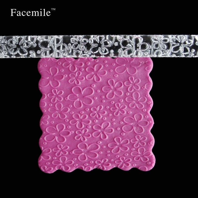 Flower Forme Gaufrage Rouleaux A Patisserie Cadeau De Decoration Gateau Fondant Sugarcraft Outils 51018