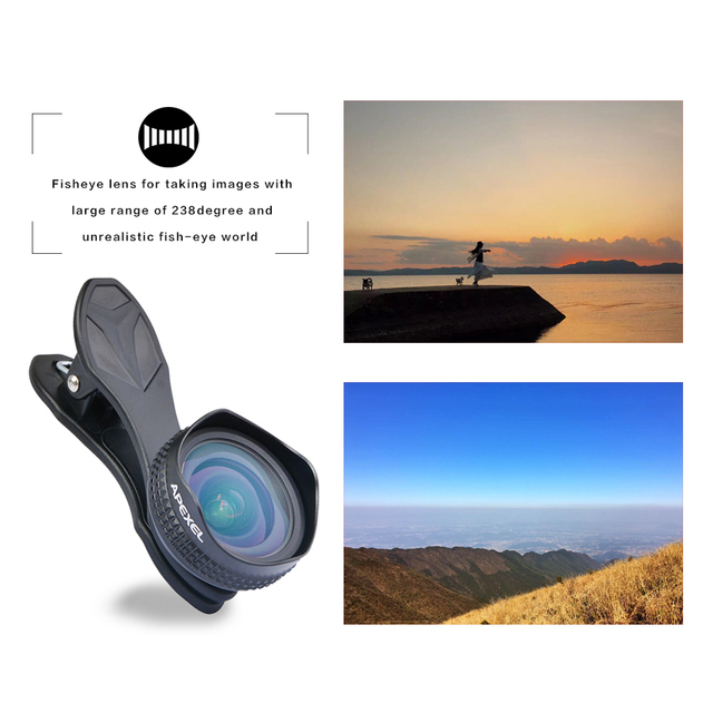 Apexel Optic Pro Lens 18MM HD Wide Angle Cell Phone Camera Lens Kit 2X More Landscape for Android IOS Smartphones 18M 4