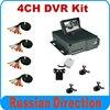 4CH Car DVR Mobile Digital Video Recorder Kit Including 4pcs Car Camera One With IR 4