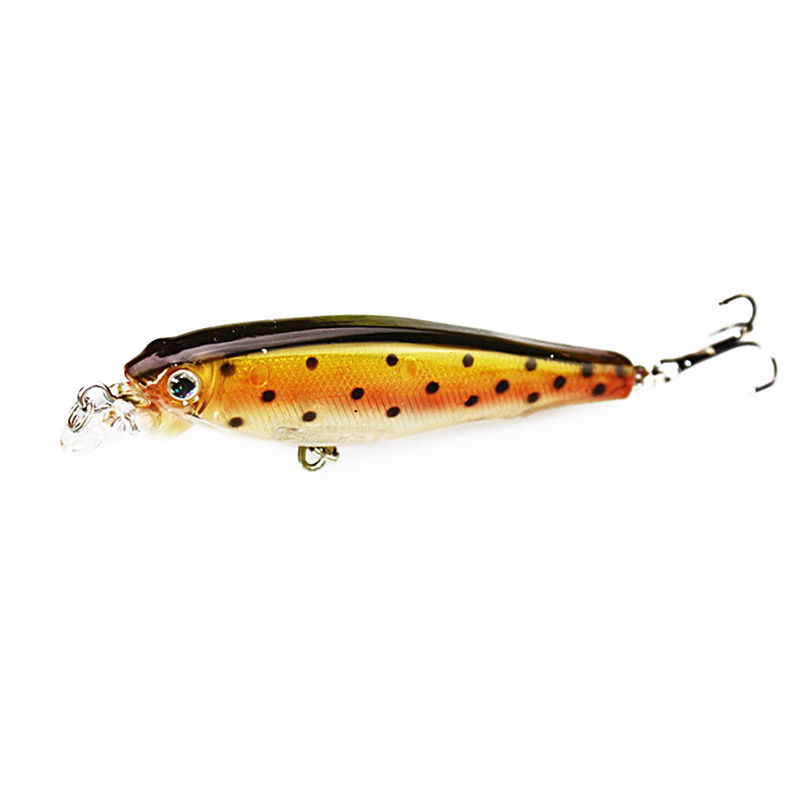 1PCS Laser Minnow Fishing Lure 8CM 7.5G hooks fishing wobbler crankbait artificial japan hard bait swimbait fishing tackle new 12pcs 7 5cm 5 6g fishing lure minnow hard bait sea fishing tackle crankbait fishing kit jig wobbler lures bait with hooks