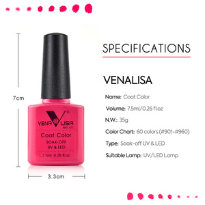 Image 4 - Venalisa 2020 New nail polish gel kit led nail lamp manicure base coat topcoat 7.5ml color gel polish full set