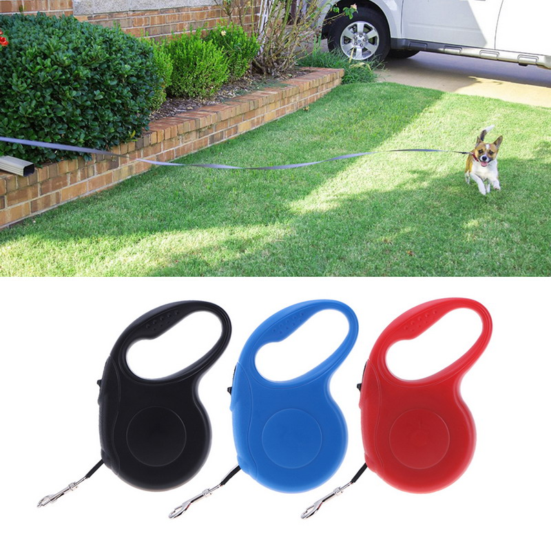 3/5 M Auto Retractable Dog Leash Pet Dog/cat Puppy Automatic Retractable Pet Traction Rope Lead Leashes Pet Supplies