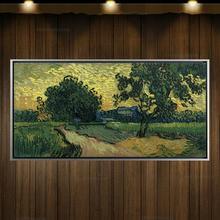 Репродукции ручной работы пейзаж живопись маслом на холсте Винсента Ван Гога «Аль пастбищ Картины 30x60 см