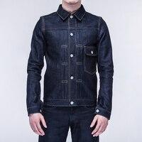 SPECIAL OFFER ! Asian size baihe handmade classic vintage jacket indigo selvage unwashed top 13.5oz raw denim jacket