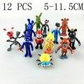 12Pcs/Set 5-11.5cm Five Nights At Freddy's figure FNAF Chica Bonnie Foxy Freddy Fazbear Bear Doll PVC Action Figures Toy gifts