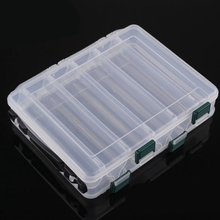 Plastic Carp Fishing Lure Box Double Side 10 Slot Fly Tackle Case Perfect for fly saltwater freshwater