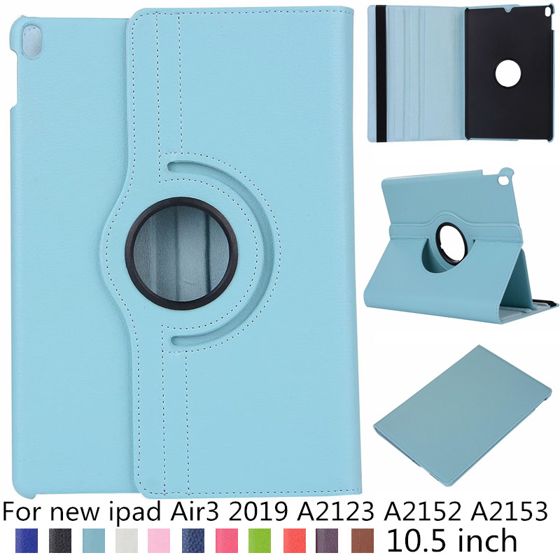 360 rotation design litchi PU leather case For iPad Air3 Air 3 10.5' Smart Cover For iPad Air3 10.5 inch 2019 A2123 A2152 A2153|Tablets & e-Books Case| |  - title=