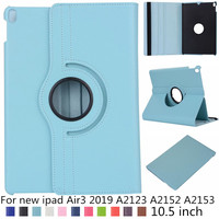 360 rotation design litchi PU leather case For iPad Air3 Air 3 10.5' Smart Cover For iPad Air3 10.5 inch 2019 A2123 A2152 A2153|Tablets & e-Books Case| |  -