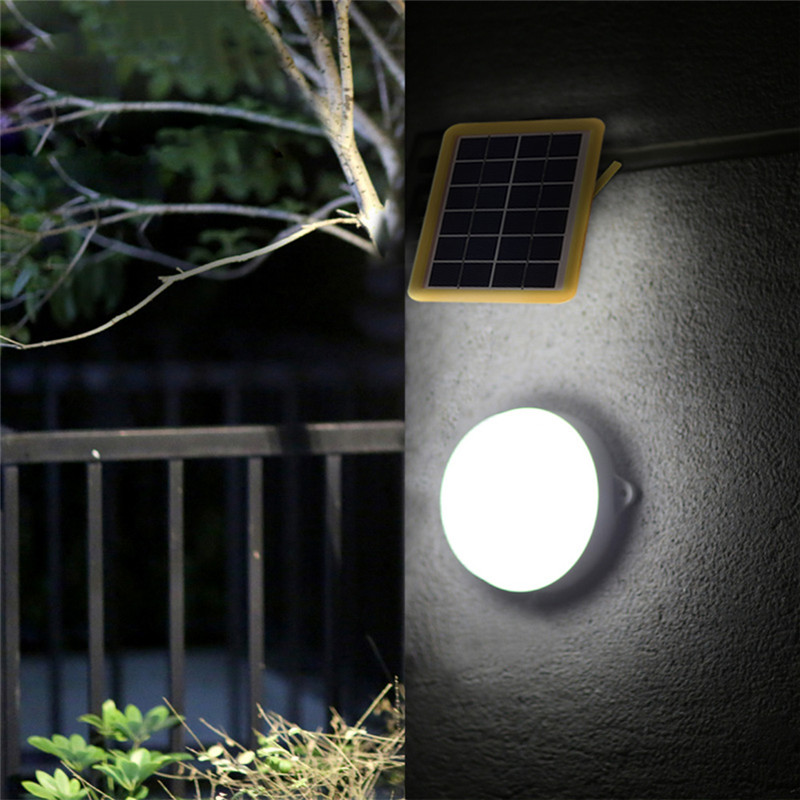 Solar Ceiling Light Outdoor High Brightness 3W Remote Control Garden Wall Lamp Camps Emergency Courtyard Corridor Solor Lights split can pull light indoor corridor courtyard lamp and emergency outdoor tent