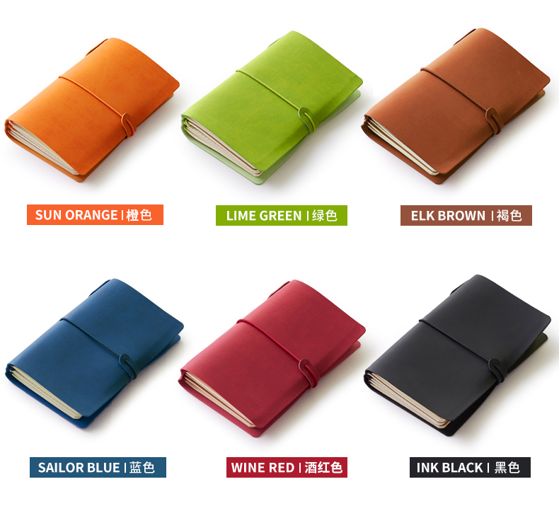 New classic portable bandage leather travel journal notebook stationery,fine student traveler diary journal note pad,6 colors domikee classic fabric hardcover cover fitted travel journal notebook stationery fine portable office school note pad gift b6