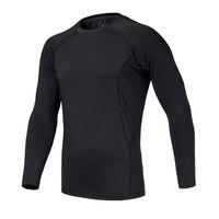 כושר 2017 Top מותג חולצה שרוול ארוך גברים פיתוח גוף גרביונים דחיסת שרירים תרמית
