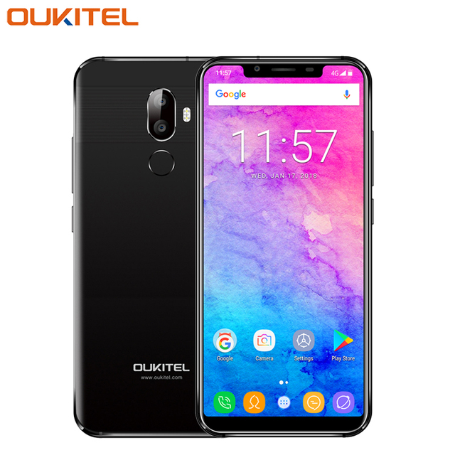 3c6bb99d2cb Original OUKITEL U18 Mobile Phone 5.85 inch Full Display 4GB RAM 64 ROM  MT6750T Octa Core
