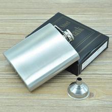 Men 6 oz hip flask with hip flask Portable 6 oz stainless steel hip flask conservatory (funnel) 117 g