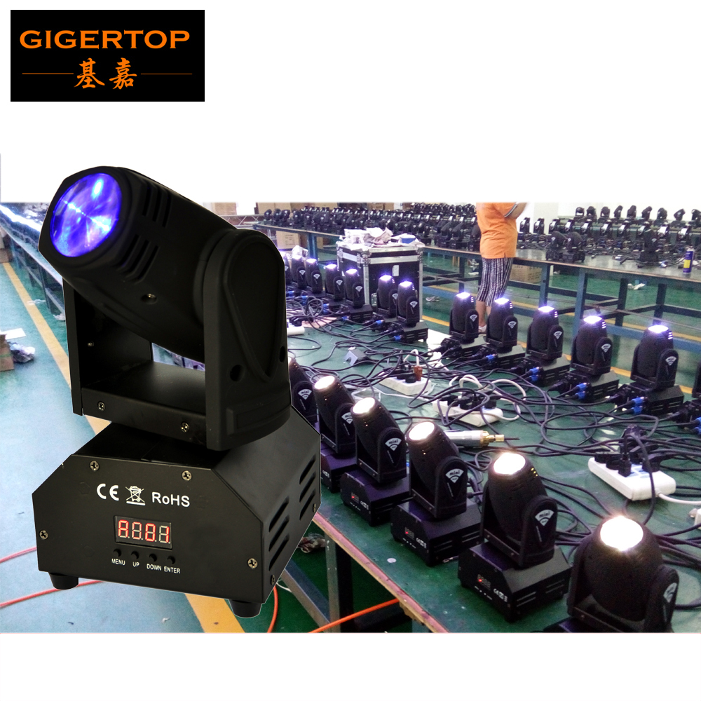 Freeshipping 10 Pack 15W Mini LED Moving Head Beam Light RGBW 4IN1 DMX DJ Euipments Stage Party 9/16CH Disco Beam Effect Light 10w mini led beam moving head light led spot beam dj disco lighting christmas party light rgbw dmx stage light effect chandelier