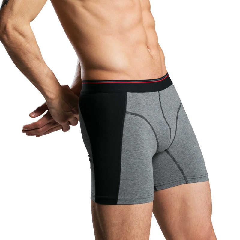4 adet/grup sıcak yeni marka moda seksi yüksek kaliteli pamuk erkek boksörler şort büyük boy erkek iç çamaşırı erkek külot yağ giysileri