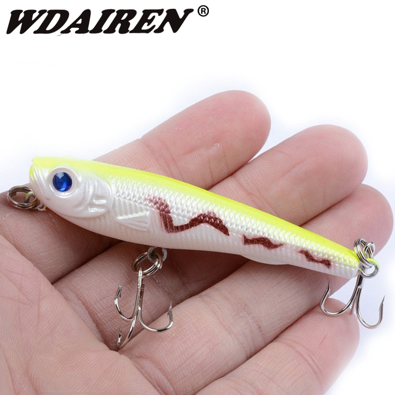 1Pcs 7cm 6.5g Topwater Fishing Lure Snakehead Floating Pencil Lure Wobbler Artificial Hard Bait Peche Iscas Pesca WD-328 banshee 127mm 21g nexus voodoo atj01 swimbait two sction multi jointed topwater walk dog stickbait floating pencil