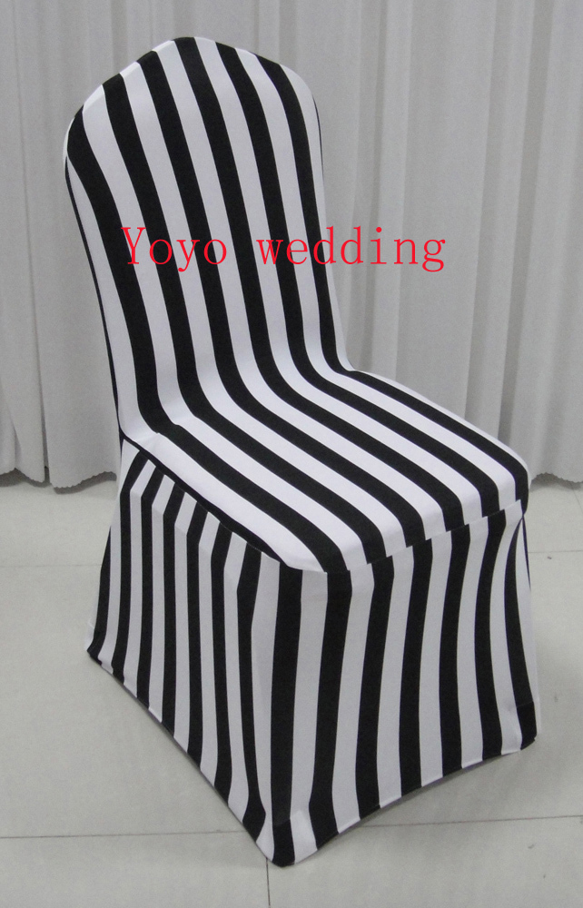 black spandex chair covers for sale desk leather white and stripe print cover in from home garden on aliexpress com alibaba group
