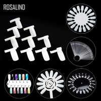 ROSALIND faux ongle couleur carte pour ongle Gel 6 motifs Transparent blanc pratique gel vernis outils boucle anneau manucure conseils