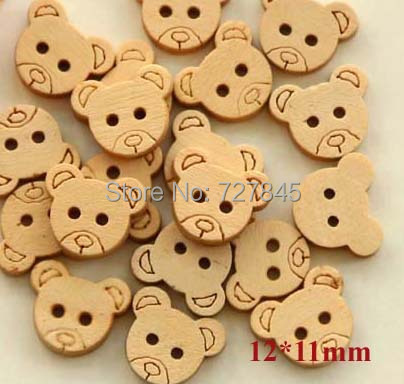 50pcs//Lot Colorful Mixed Heart Wooden Buttons Sewing Scrapbooking MW