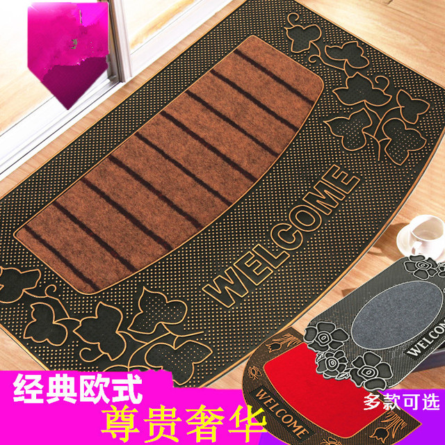1pcs Thicken Porch Door Mat Bathroom Rugs Anti Slip Pvc Suede Door