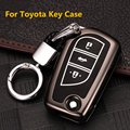 Key Case Cover Shell For Toyota CHR Auris Corolla Camry Prado Fortuner RAV4 Avensis Verso Yaris Aygo Scion TC IM Hilux 2015 2016