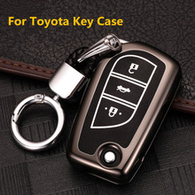 Key Case Cover Shell For Toyota CHR Auris Corolla Camry Prado Fortuner RAV4 Avensis Verso Yaris Aygo Scion TC IM Hilux 2015 2016