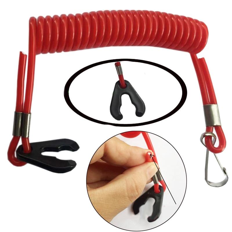 1.6m Red/Blue Marine Boat Kill Switch Safety Rope Key Lanyard For Honda For Yamaha Mercury Evinrude Johnson Tether Kill Switch