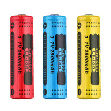 4 шт. 3,7 В 14500 2800 мАч Ёмкость литий-ионный Перезаряжаемые Батарея для фонарик факел Батарея синий низкий повторяющиеся Управление
