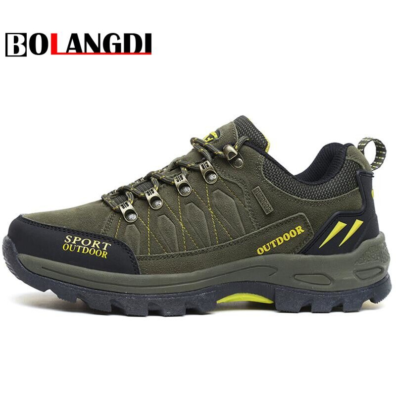 Bolangdi Men Women Hiking Shoes New Male Sports Outdoor Trekking Hunting Tourism Mountain climbing shoes Sneakers Big Size 36-47 купить