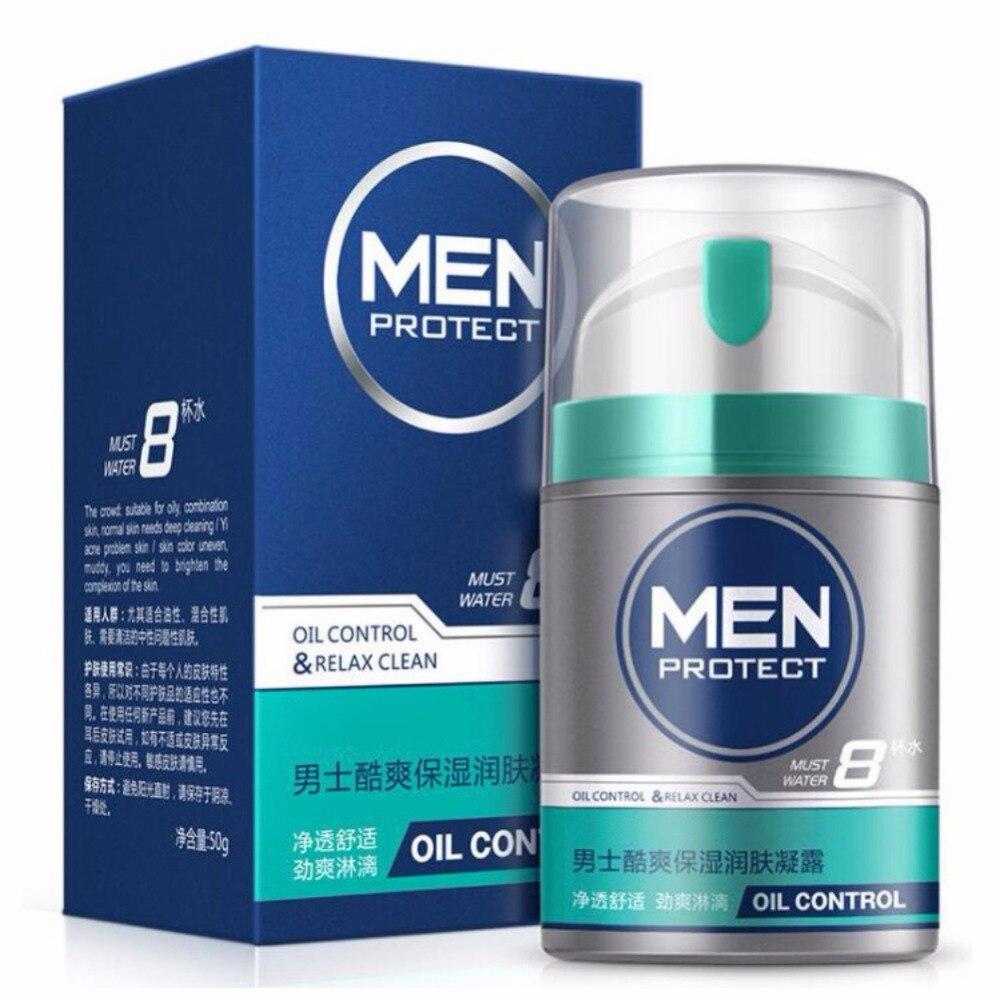 Man's Face Moisturizing Gel Hydrating Control Oil Firming Skin Anti-Drying Sodium Hyaluronate Witch Hazel Facial Moisturizer New