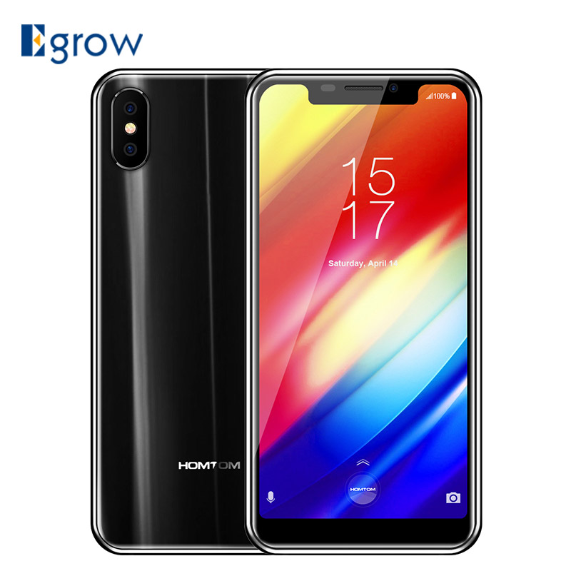 HOMTOM H10 4GB 64GB Octa Core Mobile Phone Android 8.1 Face ID Side Fingerprint 5.85'' Cell phones 3500mAh 16MP OTA Smartphone