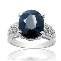 2017 реальные QI Xuan_Fashion Jewelry_big темно синий камень Элегантный Rings_S925 Твердые Щепка Мода Rings_Manufacturer непосредственно распродажа