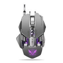 Rocketek USB Wired Mechanical Mouse for PUBG gaming 12-level adjustable DPI Max 32000 7 keys Backlit game mouse