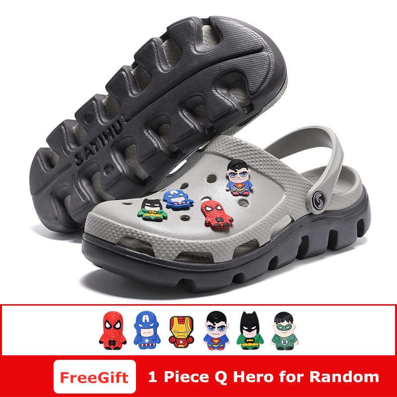 f6a733b17 ... A Mens Shoes Men Sandals 2019 crocse Clogs Sandalias Hombre homem Shoe  croc Sandles Beach Sandals ...