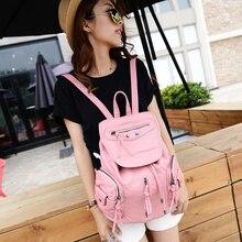 Diseño de moda de LA PU lavada mochila mujeres lovely girls ocio bolso de la vendimia pequeña bolsa de viaje