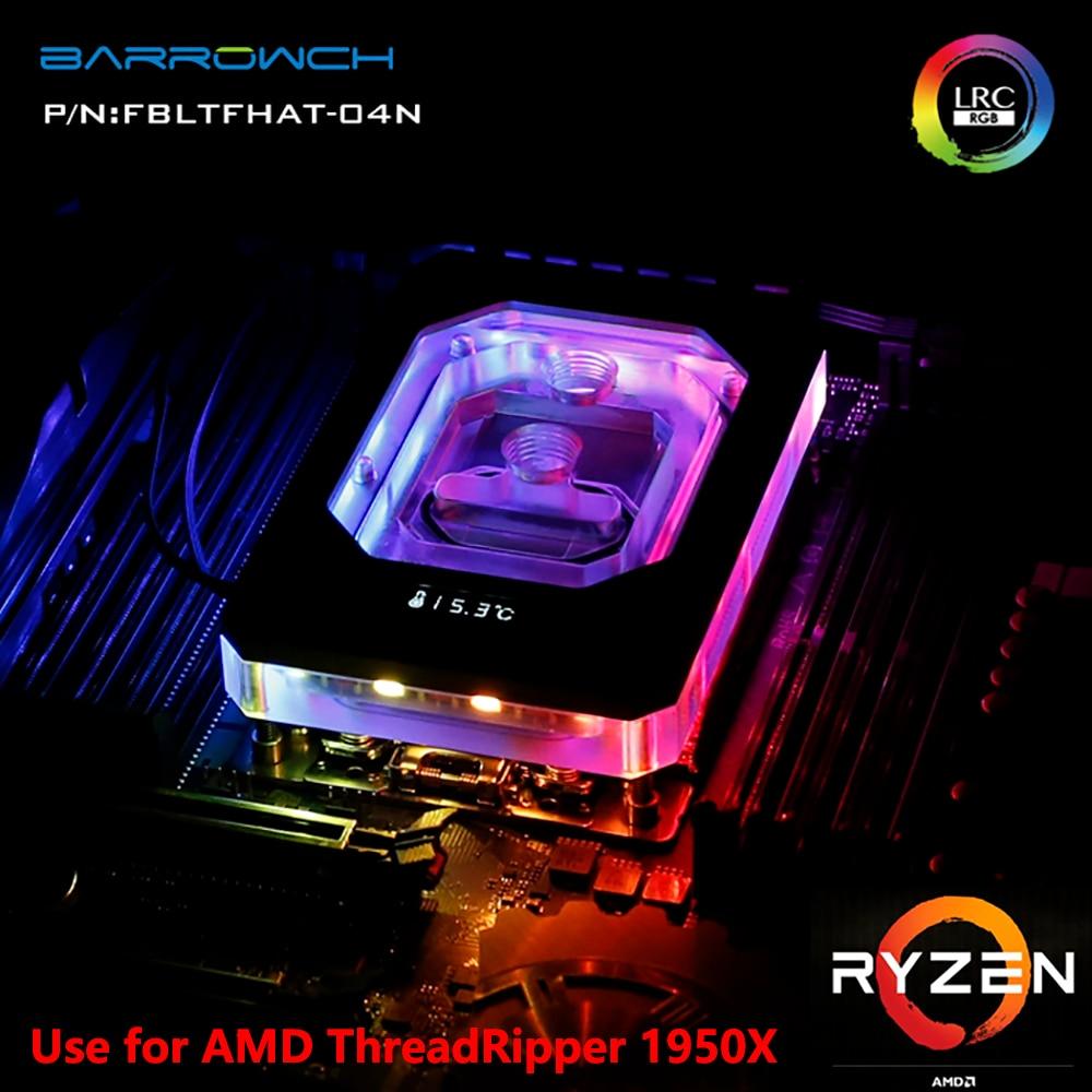 BARROW Water Cooling Radiator CPU Block use for AMD RYZEN ThreadRipper X399 1950X RGB Aurora Light