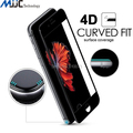 For iPhone 7 plus 0.2mm 4D Curved Full Covered Tempered Glass for iPhone 7 Screen Protector film