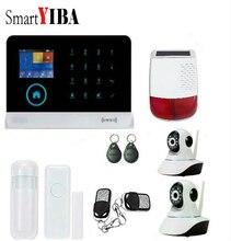 SmartYIBA GSM SMS Intruder Security Alarm System With WIFI APP Security Camera Alarm Kit Solar Siren