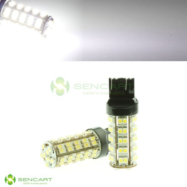 T20  7443  7440  68-SMD LED Car  Xenon White  Brake lights   Taillights  Free Shipping Brake lights