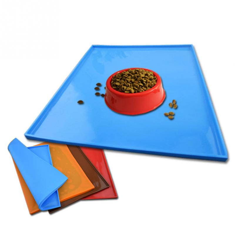 Pet Feeding Silicone Mat Pet Puppy Cat Feeder Food Water Drinking Mat For Dog Dish Bowl Feed Placemat Pet Supplies