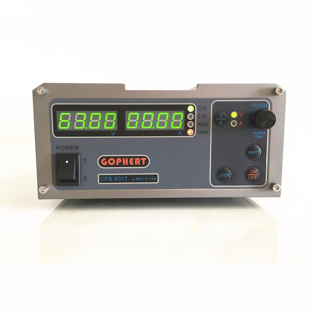 GOPHERT CPS 6017 DC regulated power supply adjustable voltage 0-60V0-17A adjustable power supply CPS-6017 DC power supplyGOPHERT CPS 6017 DC regulated power supply adjustable voltage 0-60V0-17A adjustable power supply CPS-6017 DC power supply