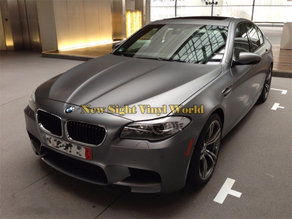 Matte Grey Car >> Us 147 98 20 Off High Quality Satin Metallic Matte Chrome Dark Grey Vinyl Wrap Sticker Bubble Free For Car Styling In Car Stickers From Automobiles