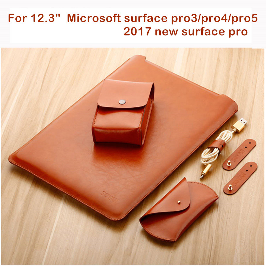 Laptop Sleeve Bag For 12.3 Microsoft Surface Pro 3 4 5 6 New Surface Pro 2017 2018 Fashion Tablet Case Waterproof Design Pouch tablet case for surface pro 3 pro 4 ultra thin portable sleeve handbag for microsoft surface pro 5 12 3 inch pouch bag