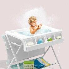 Пеленальный стол для ребенка, стол для ухода за ребенком, массажный стол для купания, многофункциональный складной стол