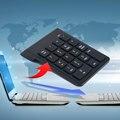 2016 de Alta Qualidade Mini 18 Teclas Do Teclado Numérico Teclado Digital 2.4G USB Teclado Numérico Sem Fio Para Notebook de Desktop Compatível
