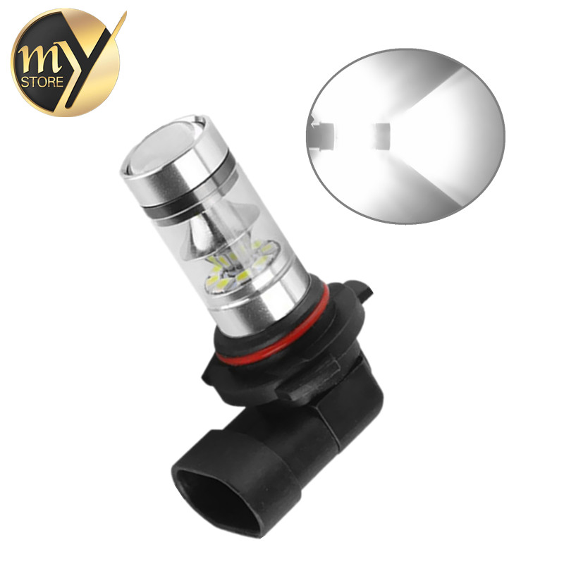 9006 HB4 100W LED Bulbs Car Fog Light Driving Lamp DRL Day Runnight Light Car Light 1250LM 12V-24V 6000K White new 1pc h4 100w led 20 smd projector fog driving drl light bulbs hid 6000k white light c45