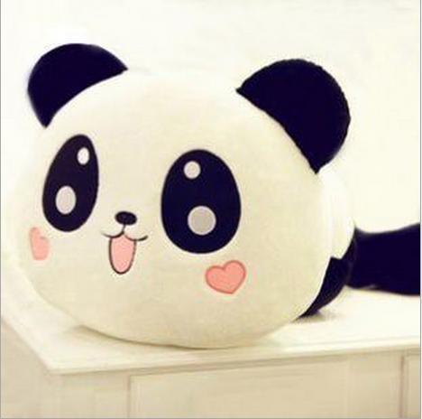 20cm 7 1 kawaii panda tummy sleeping time plush toy cute big eyes