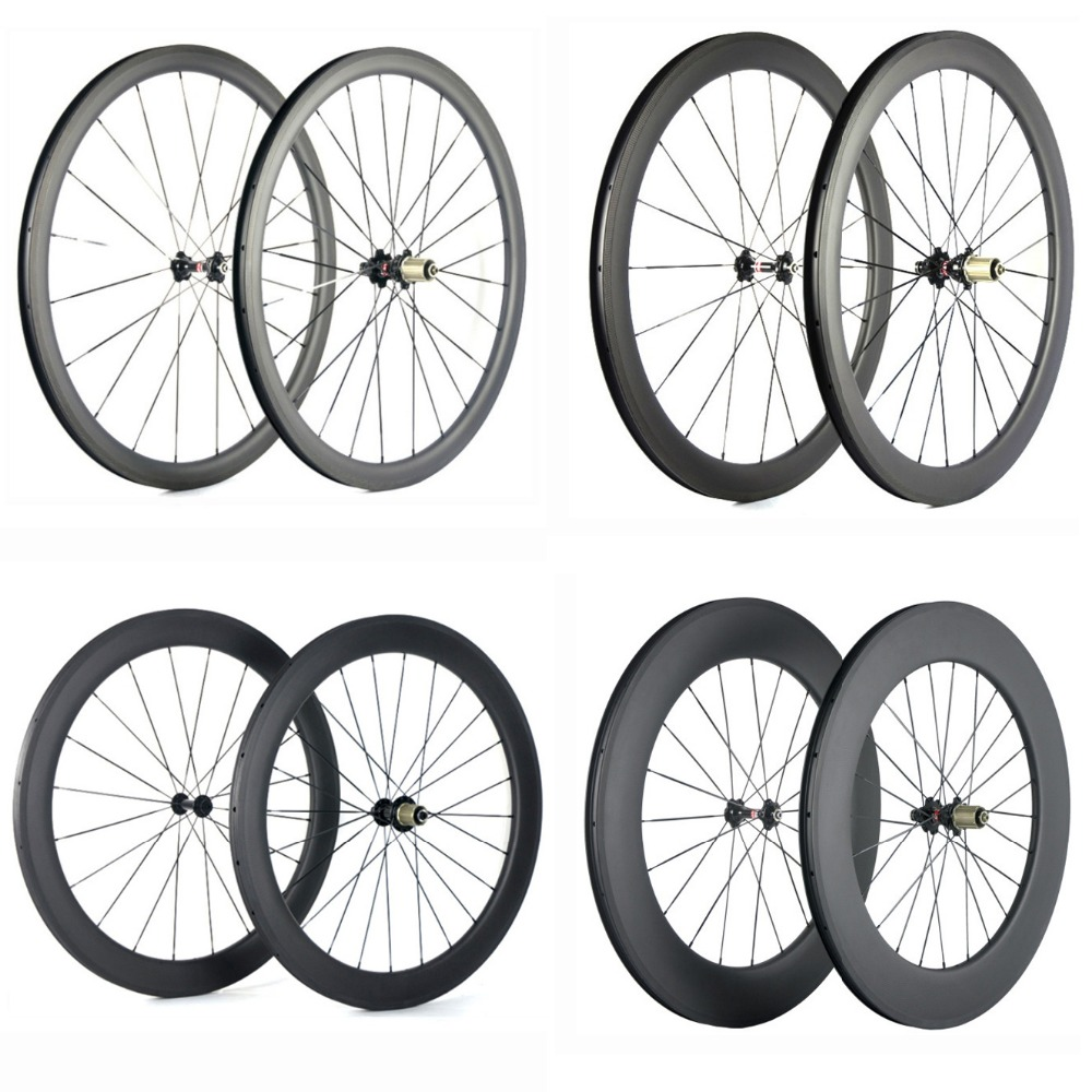 Spcycle 700C Carbon Road Bike Wheels 38mm 50mm 60mm 88mm Clincher Carbon Bicycle Wheelset 25mm Width Road Bike Carbon Wheelsets