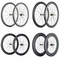 Spcycle 700C Carbon Road Bike Wheels 38mm 50mm 60mm 88mm Clincher Carbon Bicycle Wheelset 25mm Width Road Bike Carbon Wheelsets