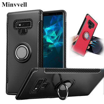 Shockproof Armor Case For Samsung Galaxy Note 9 S9 S8 Plus S7 S6 Car Ring Holder Stand Cover For iphone XS MAX X 8 7 6 6S Plus image